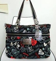 Very Rare! COACH POPPY GRAFFITI GLAM 16052. Starting at $168 on Tophatter.com!