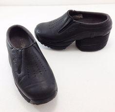 Z-Coil Taos Enclosed Black Leather Clogs Shoes Womens 6 US 36.5 EU 3.5 UK #ZCoil #Clogs #Casual