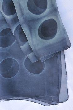 Organza scarf / Shibori / Carolina Varela / Chile