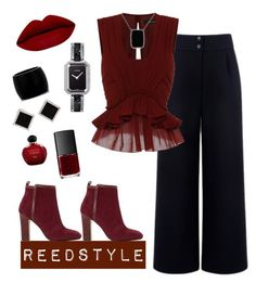 """Red Velvet"" by reedstyle on Polyvore featuring Être Cécile, Isabel Marant, Dune, Alexander McQueen, Chanel, Miadora, Yvel, Christian Dior, NARS Cosmetics and women's clothing"