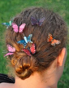 Check out this item in my Etsy shop https://www.etsy.com/listing/183547903/butterfly-hair-clip-hair-up-do-multi