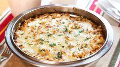 Zapečené červené těstoviny se sýrem - Proženy Gnocchi, Cheeseburger Chowder, Macaroni And Cheese, Soup, Ethnic Recipes, Mac And Cheese, Soups