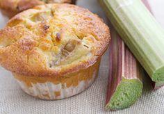 Muffins de ruibarbo
