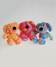 Look what I found on #zulily! Rainbow Swirl Dog Plush - Set of 12 #zulilyfinds