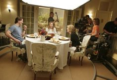 Keanu Reeves, Diane Keaton, Frances McDormand, and Nancy Meyers in Something's Gotta Give Home Theater Setup, Best Home Theater, At Home Movie Theater, Home Theater Seating, Kitchen Pendant Lighting, Kitchen Pendants, Pendant Lights, Something's Gotta Give House, Movie Set Decor