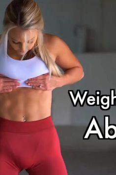 Ab Workout With Weights, Ab Core Workout, Best Ab Workout, Gym Workout For Beginners, Fitness Workout For Women, Workout Challenge, Workout Videos, Slim Waist Workout, Best Abs