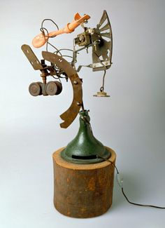 Jean Tinguely Ex, 1963 mixed media 49 1/2 in (125.7 cm) high