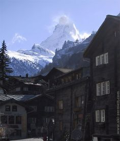 Zermatt - Nestled in a deep valley enclosed between steeply scarped mountains, Zermatt is dominated by the huge and gracefully curved pyramid of the Matterhorn.