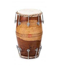 SG Musical Natural Nut Bolt Dholak Free Carry Bag
