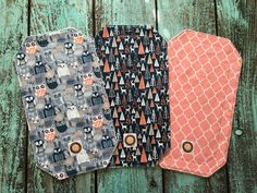 Woodland Girl BURP CLOTHS - Set of 3: baby girl burp cloths, burp rags, burp cloth set, wide long burp cloths, baby shower gift by BabyHappens on Etsy https://www.etsy.com/listing/459109120/woodland-girl-burp-cloths-set-of-3-baby