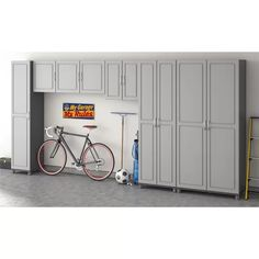 Beautiful garage door before and after Utility Storage Cabinet, Storage Cabinets, Locker Storage, Garage Door Styles, Hanging Cabinet, Laminated Mdf, Grey Room, Storage Compartments, Wall Spaces