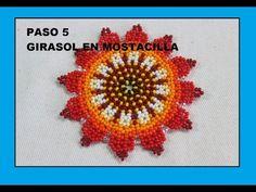 PASO CINCO GIRASOL EN MOSTACILLA SALUDOS - YouTube Handmade Jewelry Tutorials, Handmade Beads, Beading Tutorials, Beaded Earrings, Beaded Jewelry, Crochet Earrings, Peyote Patterns, Beading Patterns, Fabric Origami