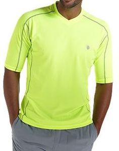 Coolibar fluo short sleeve UV Protective Men's Sport T-shirts UPF 50+ soft, light and fast drying