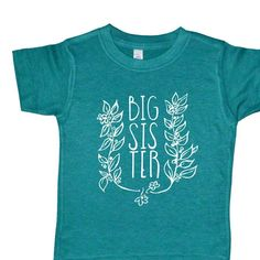 Big Sister Shirt - Flower and Vine Big Sister Kids Top - Baby Announcement Tee - Girl Clothing - Baby Toddler and Youth - Trendy Sister Tee - http://www.babies-clothes.info/big-sister-shirt-flower-and-vine-big-sister-kids-top-baby-announcement-tee-girl-clothing-baby-toddler-and-youth-trendy-sister-tee.html