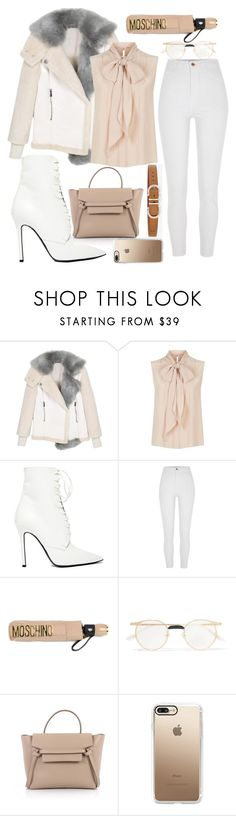 """""""Untitled #10"""" by strangerintent ❤ liked on Polyvore featuring MaxMara, Yang Li, River Island, Moschino, Gucci, Casetify and White House Black Market"""