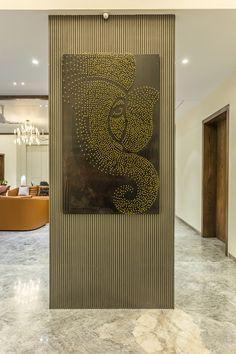 Living Room Partition Design, Pooja Room Door Design, Room Partition Designs, Foyer Design, Home Room Design, Wall Design, Living Room Designs, House Design, Home Entrance Decor