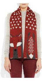 Aubin & WillsMoulsford fox intarsia wool-blend scarf. £60.