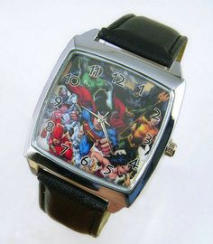 NEW SUPER HEROES JUSTICE LEAGUE BATMAN SUPERMAN WRIST STEEL WATCH 206 #unbranded #Casual