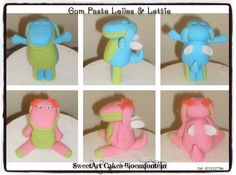 Gum paste / Fondant Lollos & Lettie. For more info & orders, email sweetartbfn@gmail.com or call 0712127786. Connect with me on Facebook at www.facebook.com/SweetArtCakesBfn/ Theme Ideas, Party Ideas, Edible Cake, Novelty Cakes, Gum Paste, Cupcake Toppers, Birthday Party Themes, Preserves, Fondant