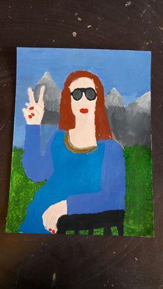 Mona Lisa. Acryl Malerei. Von Stella