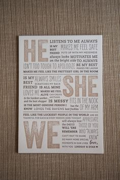 beautiful, heartfelt, and fun message to #wedding guests