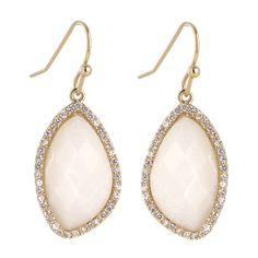 Small Organic Dangling Earrings w/CZs Marcia Moran $138