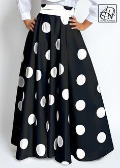 Tawni Haynes Floor Length High Waist Swing Skirt available in many other… Jacket Dress, Dress Skirt, Dress Up, Dress Gloves, Modest Outfits, Skirt Outfits, Swing Skirt, Floor Length Dresses, Dot Dress