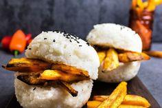 Rezept für Herbst Burger mit Jasmin Reis Brötchen | REISHUNGER