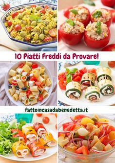 10 PIATTI FREDDI PERFETTI PER L'ESTATE. Tante ricette facili e veloci di Benedetta. Antipasto, Wine Recipes, Cooking Recipes, Healthy Recipes, Brunch, Lentil Sausage Soup, International Recipes, Quick Easy Meals, Chicken And Dumplings