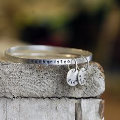 Bangle Bracelets  Silver Stacking Bangles  Custom by thebeadgirl, $106.00 #onethousandgifts @Alli McCague