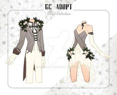 Outfit Adoptables # (Close) by gc-adopt on DeviantArt Dress Drawing, Drawing Clothes, Character Outfits, Character Art, Couple Outfits, Poses, Fashion Art, Fashion Design, Anime Outfits