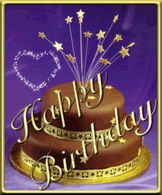 Happy Birthday Cake Gif Wishes Animated