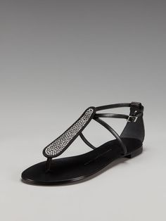Giuseppe Zanotti Crystal Strap Thong Sandal - the perfect day-to-night sandal