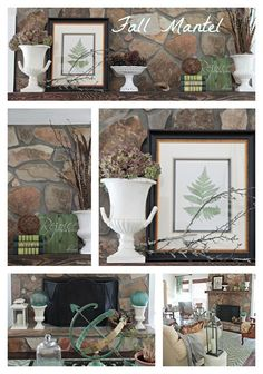 Fall Mantel and Fall Home Tour. #bloggerstylinhometour