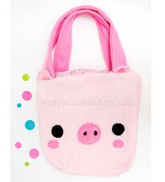 Bolso de mano de cerdo mochila mochila mochila por HappyCosmos