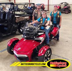 Thanks to Eileen Hines with Mike and Mary Lively from Clinton MS for getting a 2016 Can-Am Spyder F3-T. @HattiesburgCycles