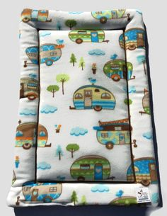 Camping Pet Pad, Travel Trailer Decor, Puppy Pad, Washable Dog Bed, Dog House Pads, Puppy Bedding, Crate Pad, Kennel Mat, Made in Colorado by ComfyPetPads on Etsy