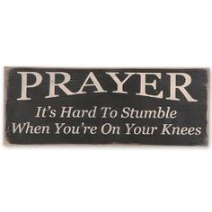 "Messenger Block Sign ""Prayer"" Country Rustic Primitive Black $23.99"