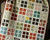 custom scruffy patchwork throw quilt (36x36). $249.00, via Etsy.