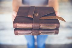 leather photo album by linenlaidfelt.jpg