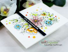 Houses Built of Cards: Copic Color Flicking - on the Unity Stamp Company Blog