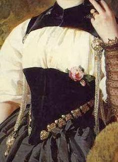 In the Swan's Shadow: A Swiss Girl from Interlaken (detail)