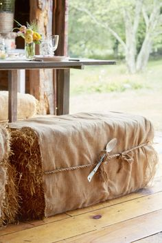 Every Country Girl Will Fall Over When They See the Inside of This Barn 60th Birthday Cakes, 60th Birthday Party, Birthday Ideas, Barn Dance Decorations, Hay Bale Seating, Hay Bales, Barn Parties, Barn Renovation, Dream Barn