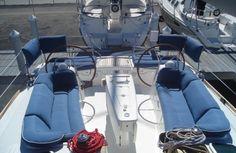 blue sailboat cushions cockpit - Google Search