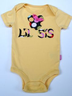 Newborn Lil sister onesie Baby Girl Take home by Coolbabyboutique, $12.00