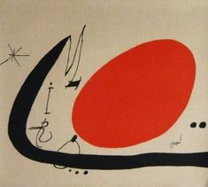 Joan MIRO - Ma de Proverbis, 1970, Original lithograph on canvas