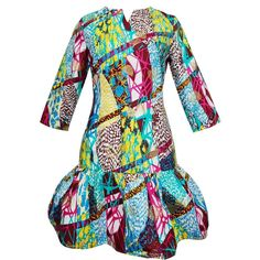 Dora Dress - Color Splash / Ankara / African Print / Wax Print
