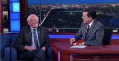 WATCH: Bernie Sanders Makes Amazing Surprise Appearance on Colbert | Alternet
