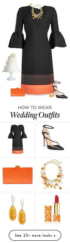 """Winter wedding guest"" by julietajj on Polyvore featuring Fendi, Loulou De La Falaise, Saks Fifth Avenue, Christian Louboutin, Edie Parker, Tory Burch and Ultimate"