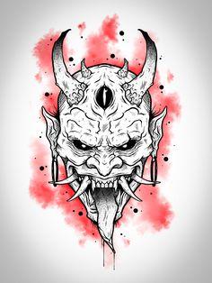 Japan Tattoo Design, Japanese Tattoo Designs, Tattoo Design Drawings, Sick Drawings, Dark Art Drawings, Skull Stencil, Tattoo Stencils, Droopy Dog, Skull Tattoo Flowers